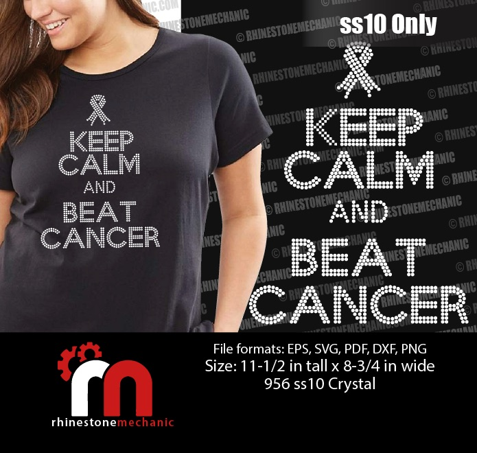 Keep Calm And Beat Cancer Ss10