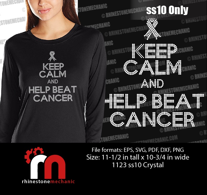 Keep Calm And Help Beat Cancer Ss10